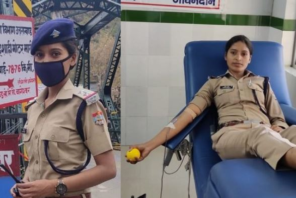 super sub-inspector nisha pandey donates blood to pregnant woman in uttarakhand