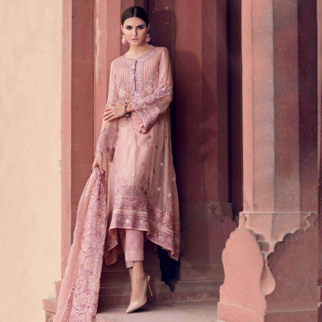 Self Embroidered Churidar Suit