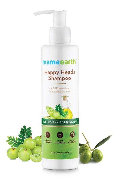 Mamaearth Happy Heads Natural Protein Hair Shampoo