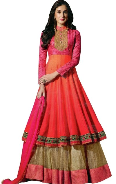 Double layered anarkali suit