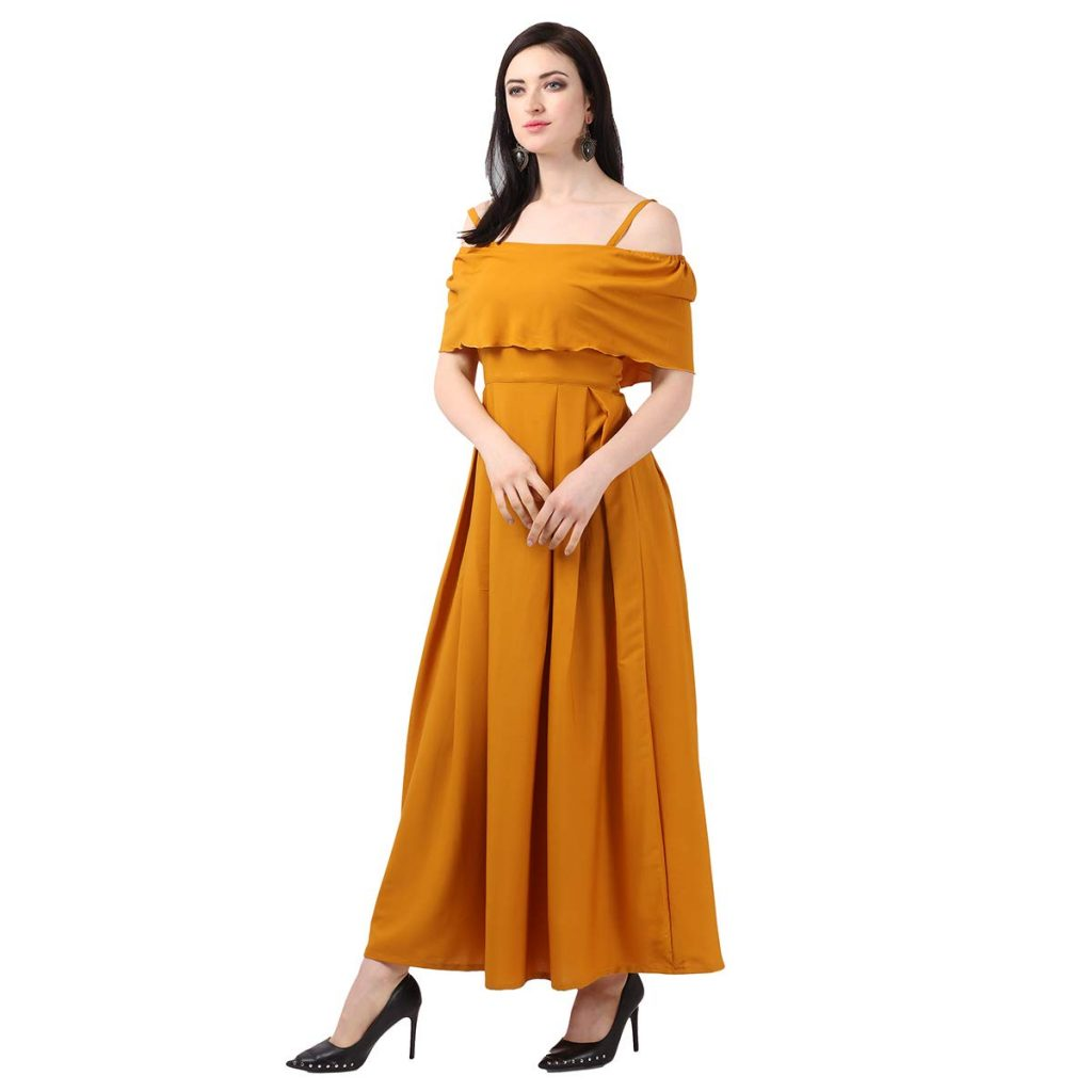 Women's Fit And Flare Maxi Dress