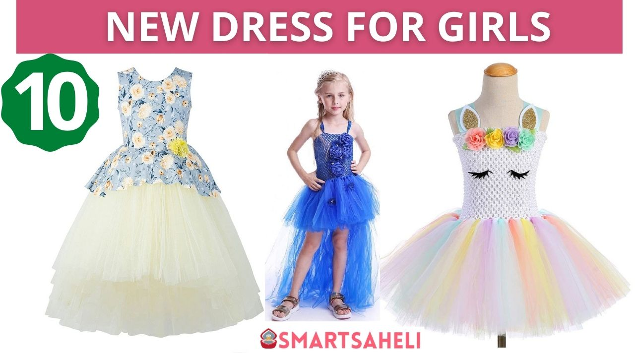 Latest New Style Dress for Girls 4-10-Year-Old