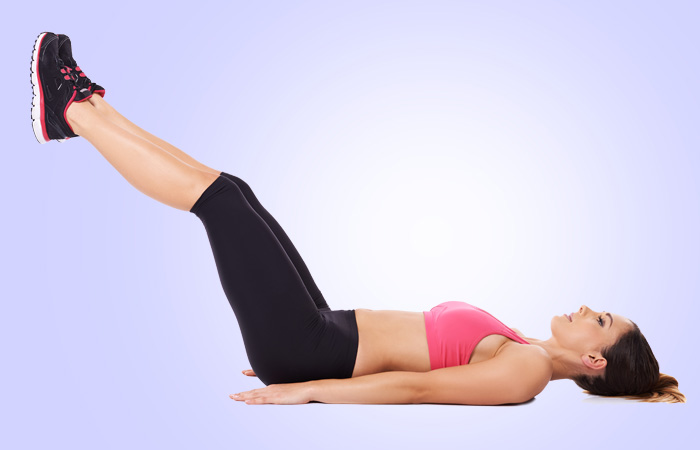 Leg lifts Twist Exercise to Reduce Belly Fat