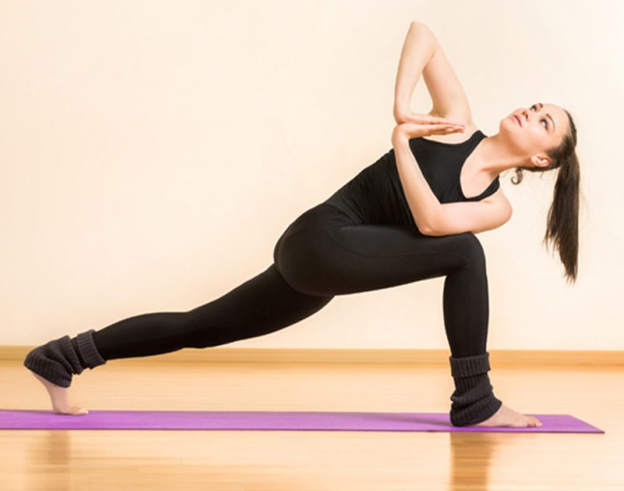 Lunge Twist Exercise to Reduce Belly Fat