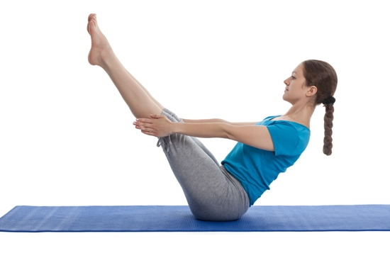 V Hold Abs stomach reduce exercise for woman